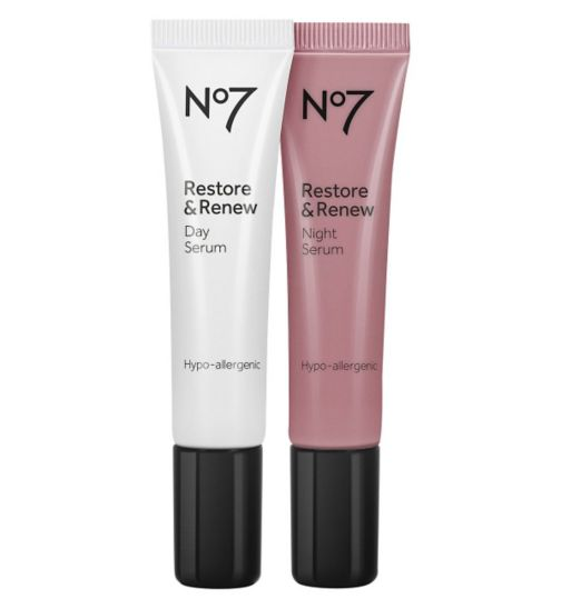 No7 Restore & Renew Day & Night Serum 15ml x 2
