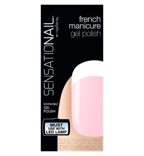 SensatioNail Gel Polish French Manicure Pink