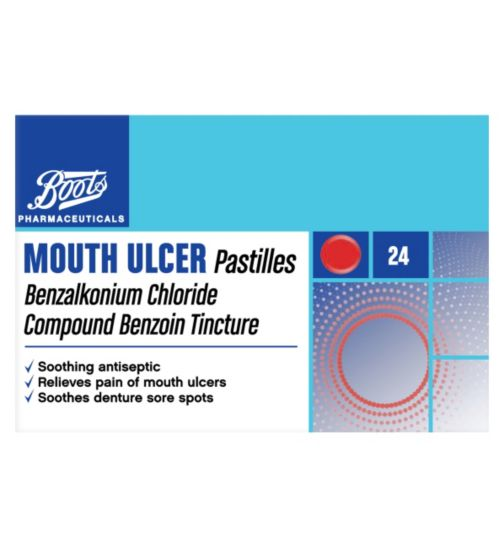 Boots Pharmaceuticals Mouth Ulcer Pastilles - 24