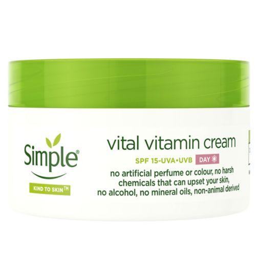 Simple Kind to Skin Vital Vitamin Day Cream SPF15 50ml