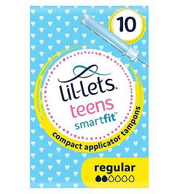 Lil-Lets teens Applicator Tampons Regular 10 Pack