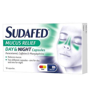 Sudafed Mucus Relief Day & Night Capsules - 16