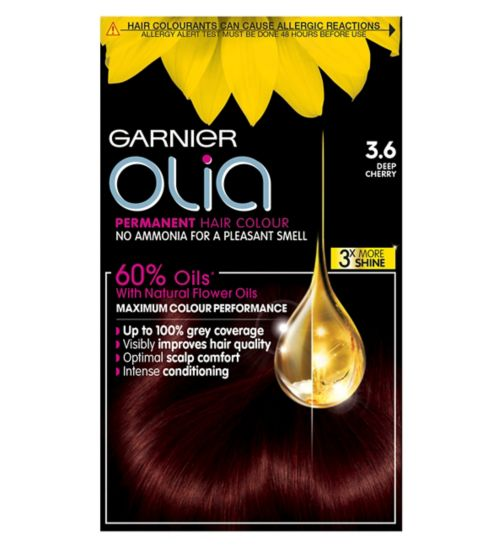 Garnier Olia Permanent Hair Colour 3.6 Deep Cherry