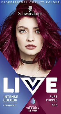 Schwarzkopf Live Color Xxl Hd 86 Pure Purple Permanent Purple Hair