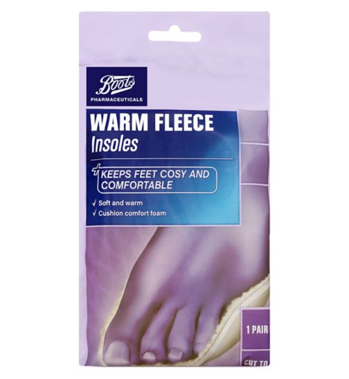 Boots Pharmaceuticals Warm Fleece Insoles