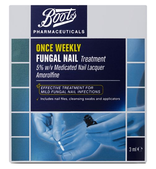 Boots Pharmaceuticals Once Weekly Fungal Nail Treatment 5 W V Medicated Lacquer