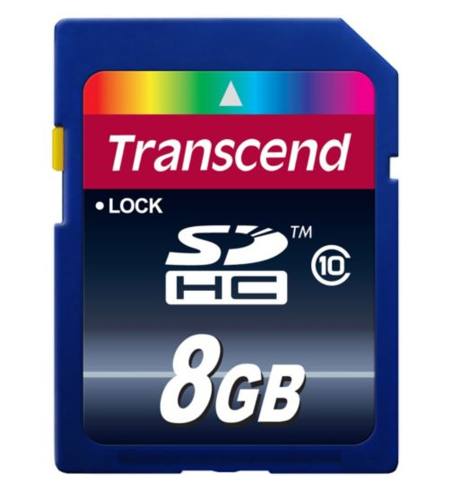 Transcend SDHC Memory Card- 8GB Class 10