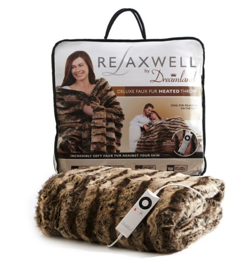 Dreamland Heated Faux Fur Throw double