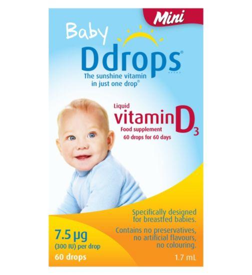 Baby Ddrops Mini 7.5 µg 60 drops