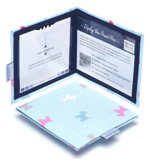 Blue Badge Display Wallet with Free Timer Clock - Dotty Scotties