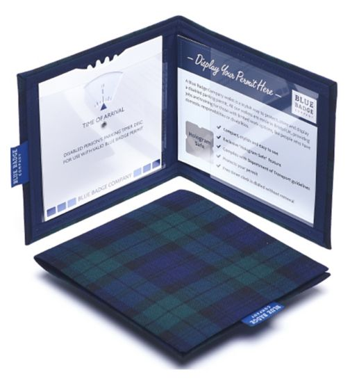 Blue Badge Display Wallet with Free Timer Clock - Blackwatch