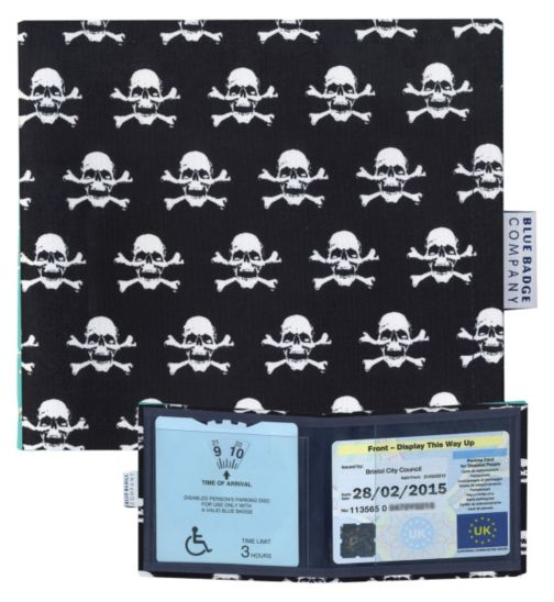 Blue Badge Display Wallet with Free Timer Clock - Pirates
