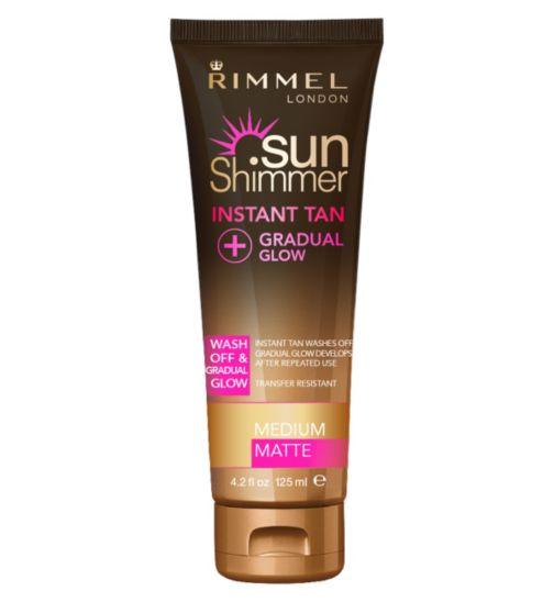 Rimmel Sunshimmer Instant Tan with Gradual Glow Medium Matte