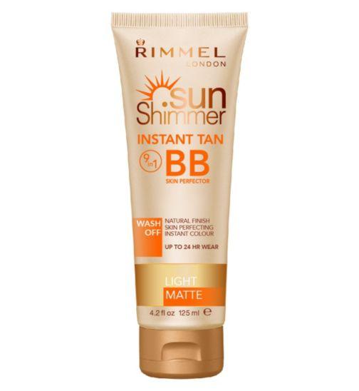 Rimmel Sunshimmer Instant Tan + BB Perfector Light Matte