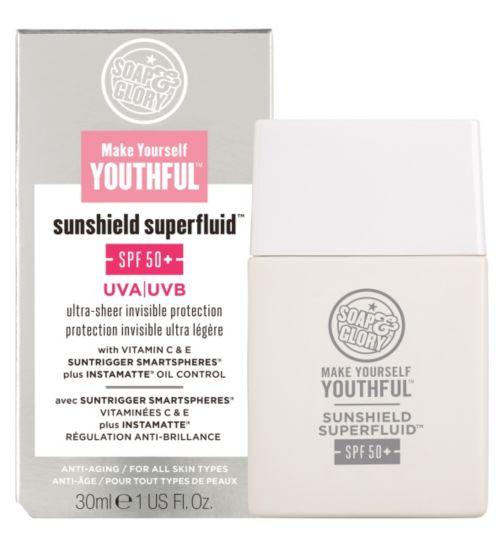 Soap & Glory™ Make Yourself Youthful™ Sunshield Superfluid™ SPF50+