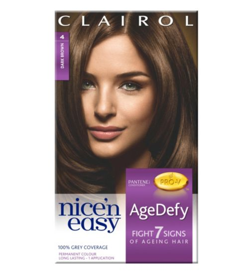 Nice'n Easy AgeDefy Permanent Hair Colour Shade 4 Dark Brown