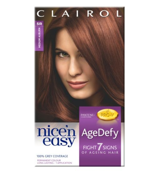 Nice'n Easy AgeDefy Permanent Hair Colour Shade 5R Medium Auburn