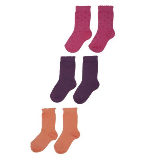 Mini Club Girls 3 Pack Socks