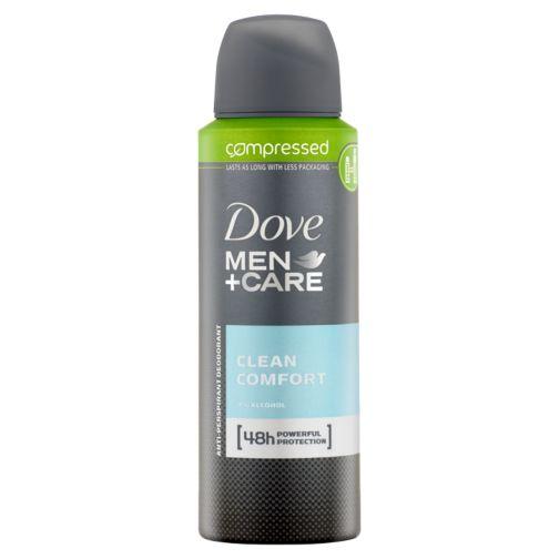 Dove Men+Care Clean Comfort Aerosol Anti-Perspirant Deodorant Compressed 125ml