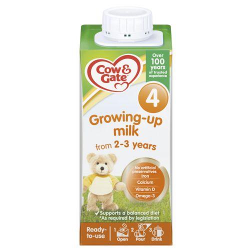 Cow & Gate 4 Growing Up Milk 2-3 Years 200ml