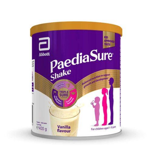 PaediaSure Shake Nutritional Supplement Multivitamin Drink for Kids - Vanilla Flavour 400g