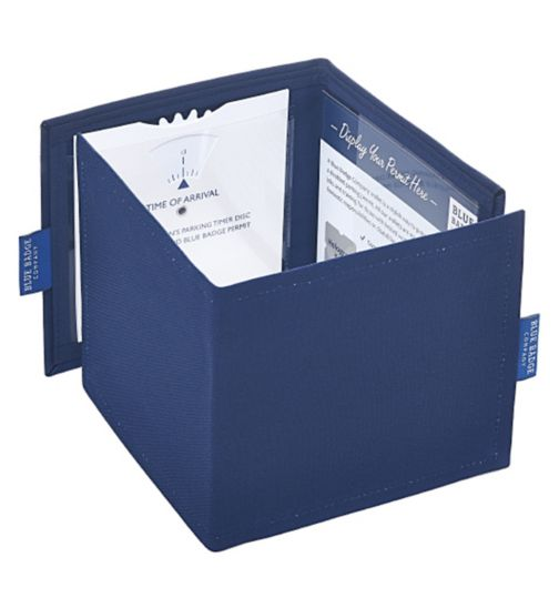 Blue Badge Display Wallet with Free Timer Clock - Navy Drill