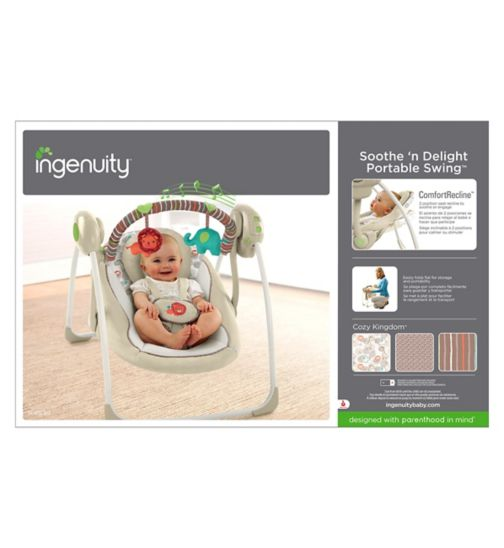 Bright Starts Comfort Harmony Portable Swing - Cozy Kingdom