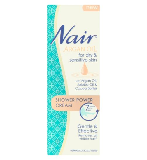Nair Shower Power Cream with Argan Oil, Jojoba Oil & Cocoa Butter 200ml