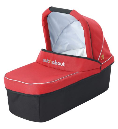 Out n About Nipper V3 Carrycot - Carnival Red