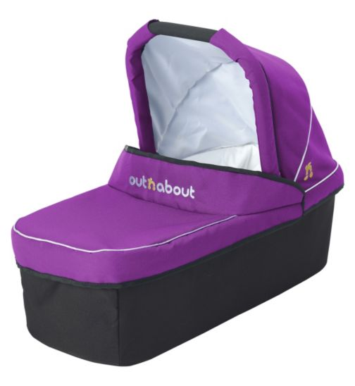 Out 'n' About Nipper V3 & V4 Carrycot - Purple Punch