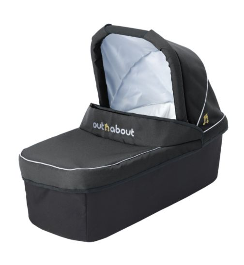 Out 'n' About Nipper V3 & V4 Carrycot - Raven Black
