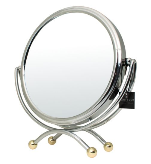 Danielle Creations Vanity Mirror in Chrome Finish with Gold decoration