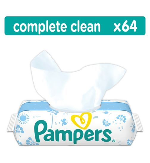Pampers Fresh Clean Baby Wipes x 64 Wipes