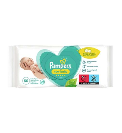 Pampers New Baby Sensitive Baby Wipes x 50 wipes