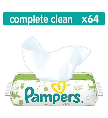 Natural Clean Baby Wipes - 64Pack