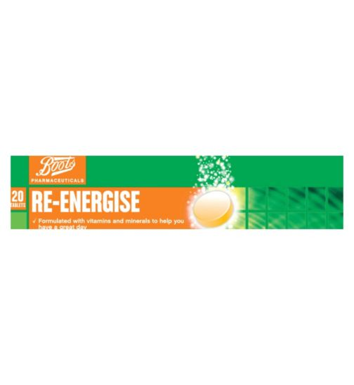 Boots Re-Energise Orange 20 tablets
