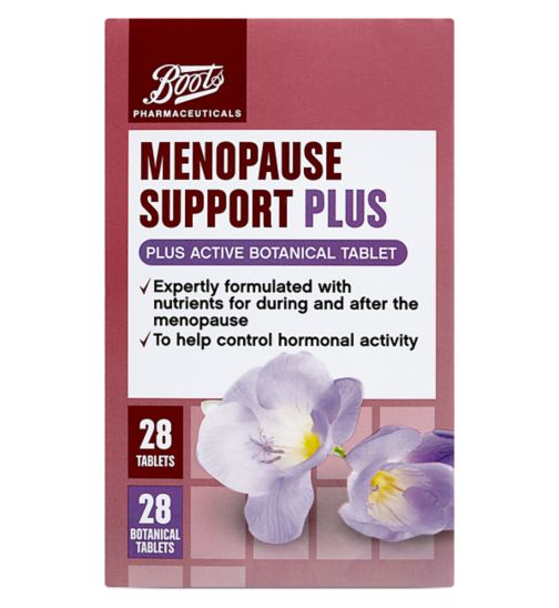 Boots Menopause Support Plus 28 + 28 Botanical tablets