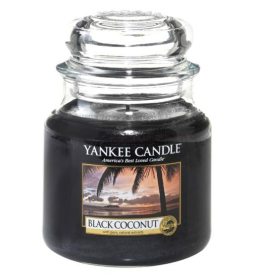 Yankee Candle Classic Medium Jar Candle in Black Coconut