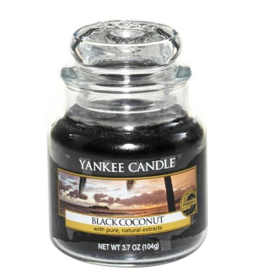 Yankee Candle Classic Small Jar Candle in Black Coconut