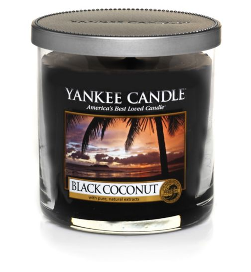 Yankee Candle Small Pillar Candle in Black Coconut