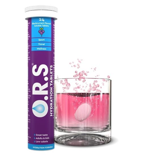 O.R.S. Hydration Tablets Blackcurrant Flavour - 24 Tablets