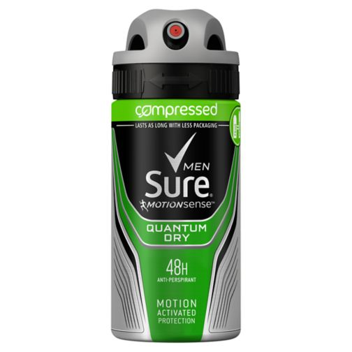 Sure Men Compressed Anti-perspirant Deodorant Quantum Dry 75ml