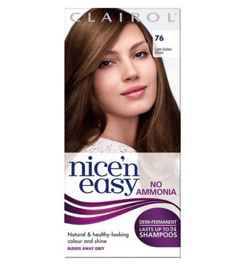 Clairol  Nice'n easy No Ammonia Non Permanent Hair Dye 76 Light Golden Brown