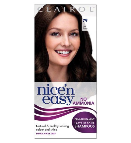 Nice'n Easy No-Ammonia Shade 79 Dark Brown up to 24 Shampoos