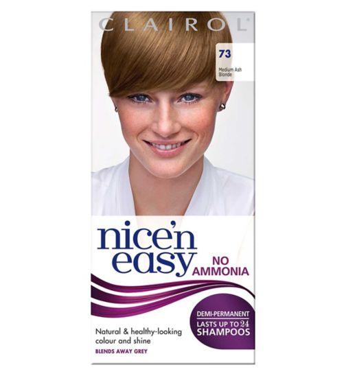 Nice'n Easy No-Ammonia Shade 73 Medium Ash Blonde up to 24 Shampoos