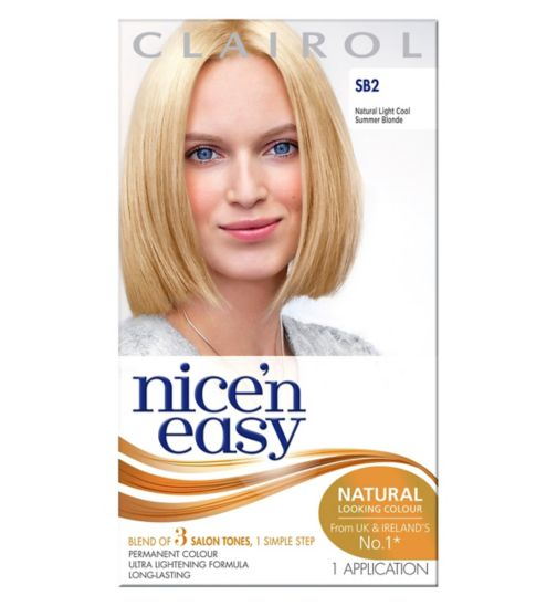 Nice'n Easy Permanent Hair Colour  Natural Light Cool Summer Blonde