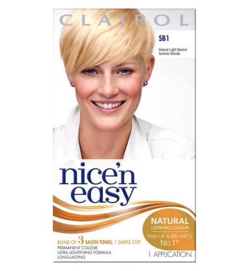 Nice'n Easy Permanent colour #SB1 Natural Light Neutral Summer Blonde (Former shade #SB1)