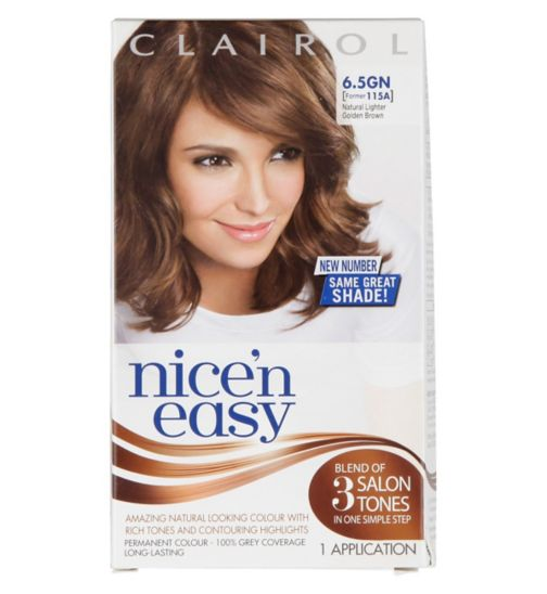Nice'n Easy Permanent colour # 6.5GN Natural Lighter Golden Brown (Former shade #115A )