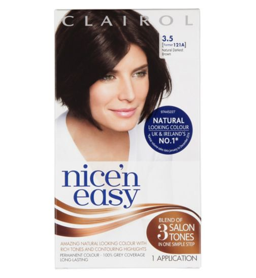 Nice'n Easy Permanent colour #3.5 Natural Darkest Brown (Former shade #121A)