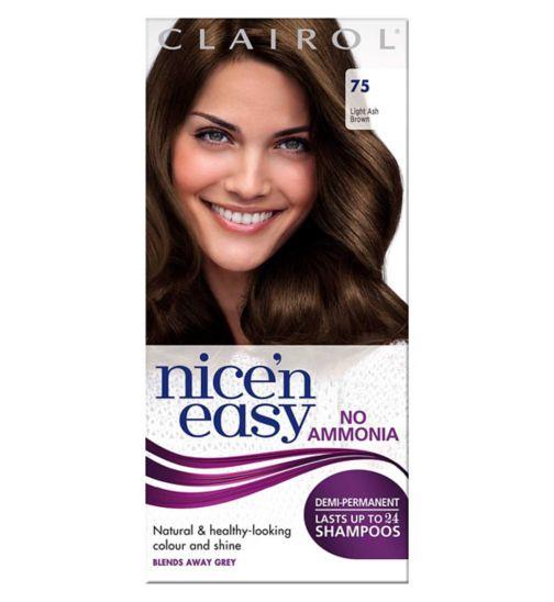Clairol  Nice'n easy No Ammonia Non Permanent Hair Dye 75 Light Ash Brown